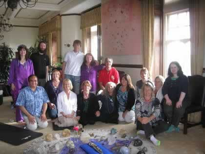 Group Photo Tintagel retreat crystal skulls and sound