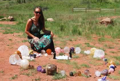 Gina with Crystal Skull Grid - Garden of the Gods